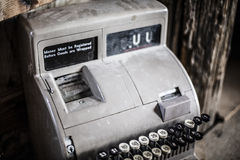 Antique Cash Register Stock Photo