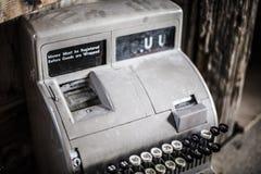 Antique Cash Register. An old rusty antique cash register Stock Photo