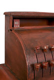 Antique cash register. Showing No Sale in the pop-up amount display. Isolated with work path Royalty Free Stock Photos