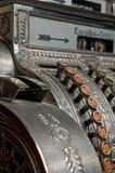 Antique cash register. An antique portuguese cash register Royalty Free Stock Image