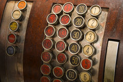 Antique Cash Register Buttons Royalty Free Stock Images