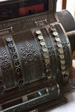 Antique cash register. Detail shot of an old cash register with shallow depth of field Royalty Free Stock Images