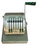 Antique cash register front Stock Images