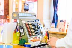 Antique cash register machine Stock Photos