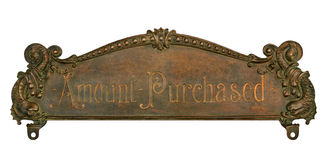 Antique Cash Register Top Stock Image
