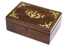 Antique casket. With an ornament with an ornament of color of gold Stock Photos