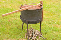Antique Cast Iron Cook Pot Stock Photos