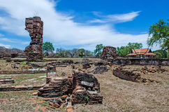 The Antique Castle. In Ayutthaya Historical Park,Thailand.Public place.Ruined Castle Royalty Free Stock Images