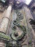 Antique Catedral Column. The time pass, but this building remains at Santiago de Compostela, Spain Royalty Free Stock Image