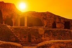 Antique cave city Uplistsikhe Royalty Free Stock Image