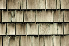 Antique Cedar Siding. On a vintage 1940 barracks at an deserted airbase Royalty Free Stock Photo
