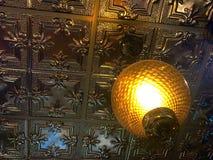 Antique ceiling. A beautiful antique ceiling at a sandwich shop Stock Image
