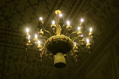Antique ceiling chandelier in Badshahi mosque Royalty Free Stock Image