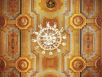 Antique ceiling with chandelier. Stock Image
