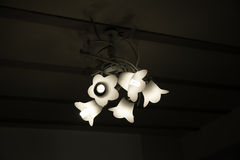 Antique Ceiling Lights. On wall Royalty Free Stock Photo