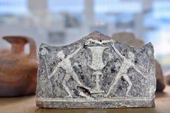 An antique ceramic in ancient Nemea museum, Greece Stock Photo