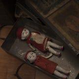 Antique ceramic dolls Stock Image