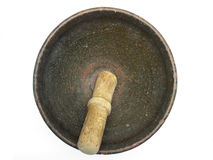 Antique ceramic mortar Stock Photos