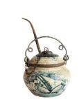 Antique ceramic opium pipe. Stock Photo