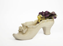 Antique Ceramic Shoe Stock Image