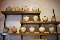 Antique ceramic vases Royalty Free Stock Images