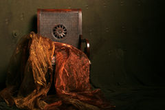 Antique chair. With dramatic lighting royalty free stock images