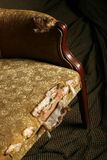 Antique chair. Old antique chair with dramatic lighting stock photography