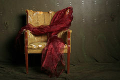Antique chair. With dramatic lighting royalty free stock photos