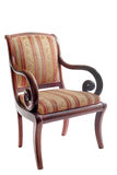 Antique chair. In front of white background royalty free stock image