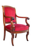 Antique chair. In front of white background stock photography