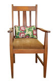 Antique Chair with Cushion Stock Photos