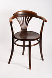Antique chair. In good condition on the white background royalty free stock photos