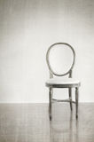 Antique chair with grunge style background royalty free stock photography