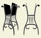 Antique Chair Rack 01. Antique Chair Rack Isolated Illustration Vector Royalty Free Stock Photo