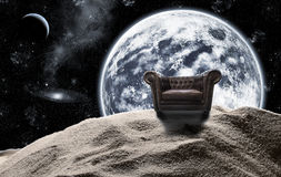 Antique chair in space Royalty Free Stock Image