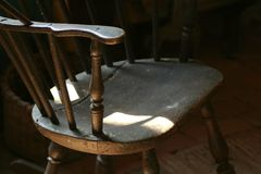 antique chair straight wooden Στοκ Εικόνα
