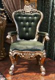 Antique Chair Upholstered In Velvet Royalty Free Stock Image