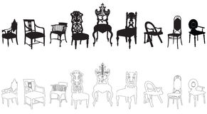 Antique chairs Royalty Free Stock Image