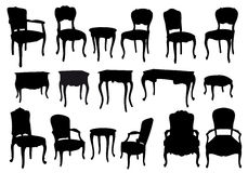 Antique chairs and tables,  Stock Photography
