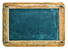 Antique chalkboard with wooden frame isolated on white Stock Image