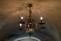 Antique chandelier in Provence Stock Image