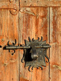 Antique chapel door. Lock detail Royalty Free Stock Photography