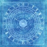 Magic esoteric occlut mystic astrology chart background royalty free stock photography