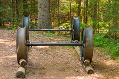 An antique chassis used in a remote logging camp Royalty Free Stock Images