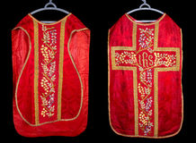 Antique chasuble Stock Image