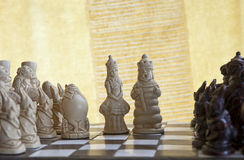 Antique chess Royalty Free Stock Photo