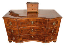An antique chest of drawers Stock Photos