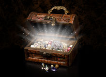 Antique chest of pirate treasure royalty free stock image
