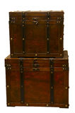 Antique Chests Stacked Stock Images