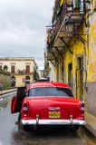 Antique Chevrolet in Old Havana Stock Photography